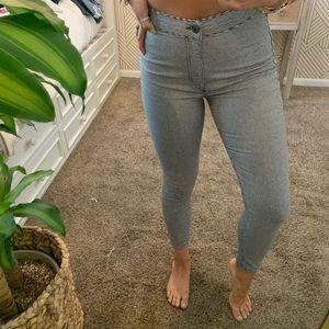 Free People Gingham/Plaid Skinny Jeans 🖤